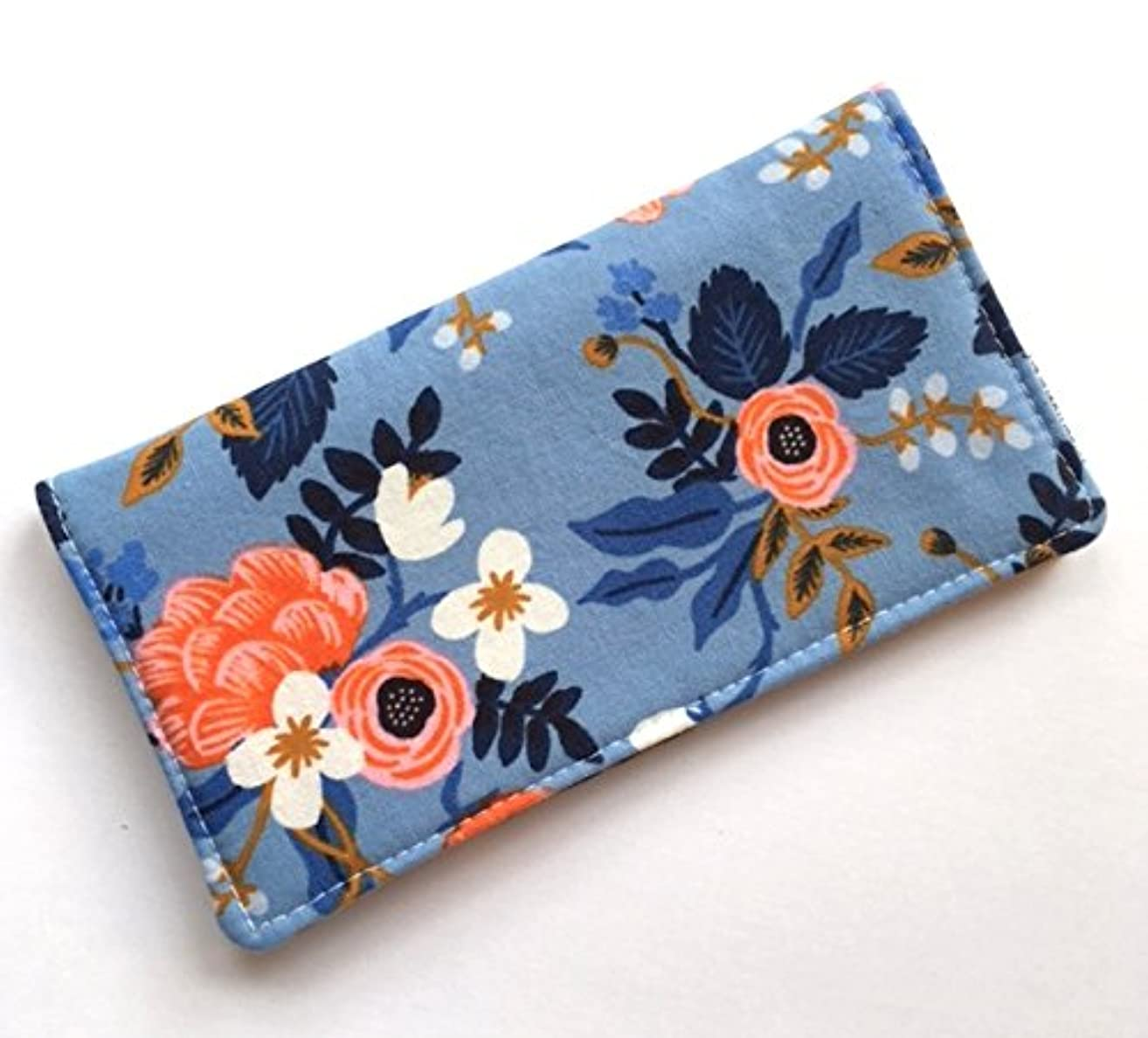 Checkbook Cover Wallet Receipt Holder - Rifle Paper Co. Birch in Periwinkle