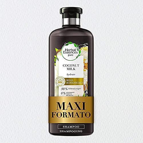 Herbal Essences Shampoo Latte di Cocco, Idrata i capelli secchi, in Collaborazione con i Giardini Botanici Reali di Kew - 400 ml