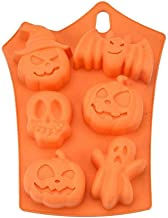 SharpointHome Halloween Mould Cake Chocolate Pumpkin Bat Skull Jelly Mold Baking Silicone Mold Tool
