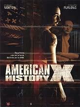 American History X Movie Poster (30 x 40 Inches - 77cm x 102cm) (1998) French -(Edward Norton)(Edward Furlong)(Fairuza Balk)(Beverly D'Angelo)(Avery Brooks)(Stacy Keach)