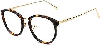 a969467dd35 TIJN Vintage Round Metal Optical Eyewear Non-prescription Eyeglasses Frame  for Women