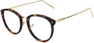 TIJN Vintage Round Metal Optical Eyewear Non-prescription Eyeglasses Frame for Women