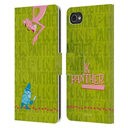 Head Hülle Designs Offizielle The Pink Panther Kommissar Pink Freude Leder Brieftaschen Handyhülle Hülle Huelle kompatibel mit BlackBerry Motion
