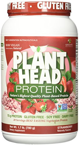 Genceutic Naturals Plant Strawberry Head Protein, 1.7 Pound