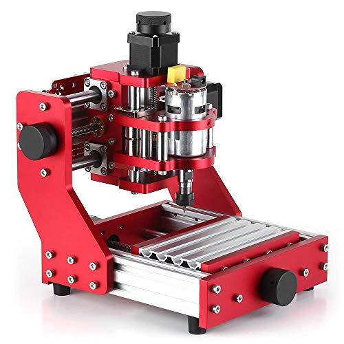 Mnjin Tragbare CNC-Fräser Metallgravurmaschine, Leichtfräsmaschine Mini-Graveur-Werkzeugsatz PCB Holz, 5500 mW