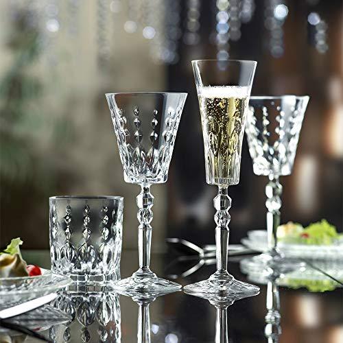 Pagano Home Marilyn Set 12 Bicchieri Acqua, 12 Calice Vino, 12 Calice flut 36 Pezzi Made in Italy