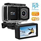 VTIN Action Kamera, WIFI sports cam Unterwasserkamera Helmkamera 12MP 2,45 'Touchscreen...