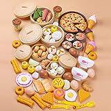 84 Teilig Küchenspielzeug Backformen Kinderküche Kinder, Essensset Lebensmittelsortimente Dampfer Brötchen Induktionsherd Einstellen Großhandel Obst Spielzeug