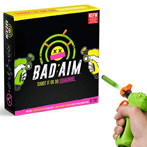 Bad Aim - Party Game - Shoot Cards To Avoid Doing Wild Truths & Dares. (Nsfw Version) JungleDealsBlog.com