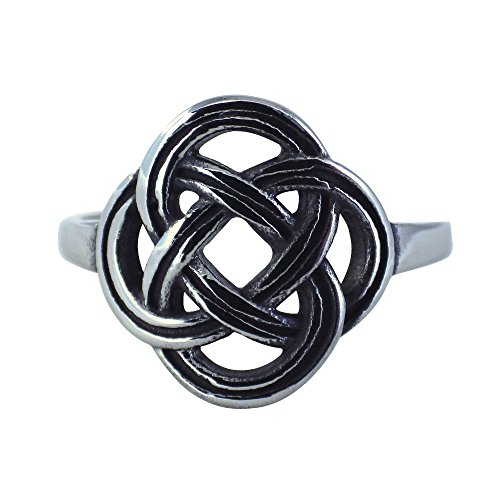 Fantasy Forge Jewelry Dara Celtic Knot Stainless Steel Womens Ring Size 5