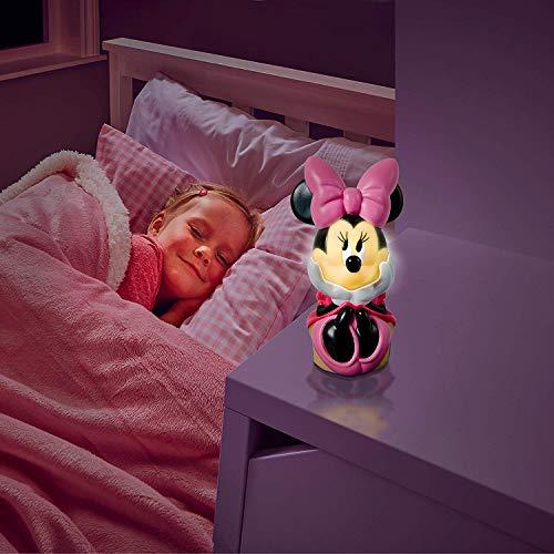 Minnie Maus 2 in 1 Nachtlicht + Taschenlampe Nachttischlampe Lampe Minnie Mouse