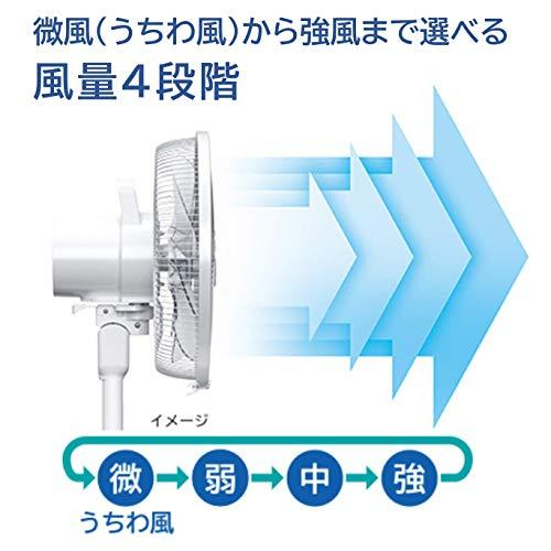 日立扇風機風量4段階8枚羽根やさしい微風(うちわ風)減灯&消音HEF-130M