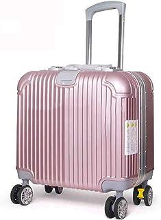 GLJJQMY Trolley 16 Inch Lightweight Hard Shell Universal Wheel Business Unisex Suitcase Fashion Hand Luggage Trolley Case Luggage Trolley case (Color : Pink)