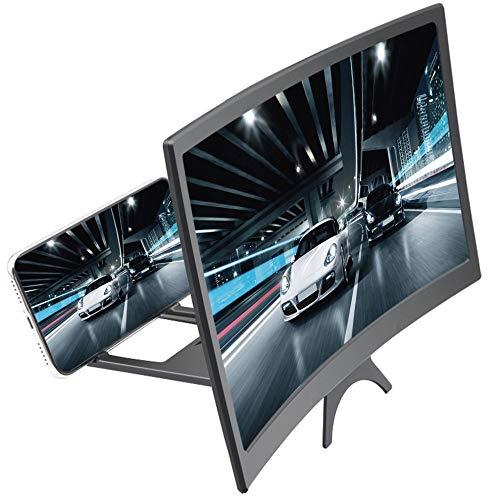STEBRUAM Handy Lupe,12 Zoll 3D Bildschirm Vergrößerungsglas und Anti Blaulicht Brille Handyhalter-Bildschirmverstärker Phone Screen Magnifier Kombination HD Für Alle Smartphone