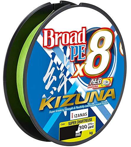 mächtig der welt Besitzer Kizuna8braid 270m – Spinngarn, Farbe: Gelbgrün,…
