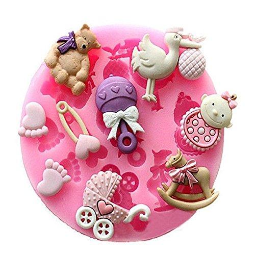 Bluelover poppenwagen voor meisjes, carrousel van siliconen van de muffe van de fondant muffa decoratie