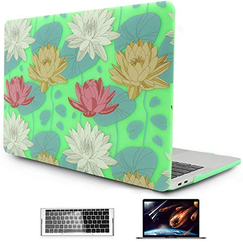 OneGET MacBook Pro 13 Inch Case with Touch Bar Laptop Case MacBook Pro 13 Inch 2016 2017 2018 2019 Release A2159 A1989 A1706 A1708 MacBook Pro Cover for Fashion MacBook Pro 13 Hard Shell Flowers (F8)