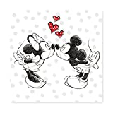 Keilbild Wandbild Leinwand | Minnie und Micky Mouse | 35x35