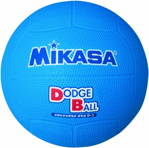 MIKASA Educational Dodgeball Size 1 (Infants to Elementary School Students), Blue D1-BL