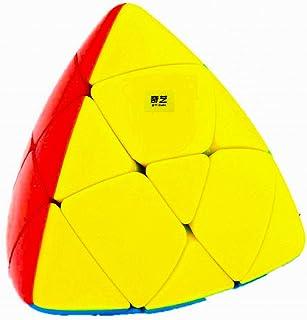 D ETERNAL QiYi Rubiks Rubix Mastermorphix High Speed Stickerless Pyramid Magic Cube,Multicolor
