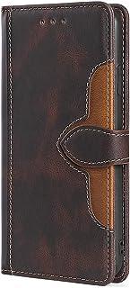 Retro Folio Flip läderfodral för Alcatel 1c 2019, plånboksskydd för kvinnor magnetisk stängning korthållare ställ stöttåli...