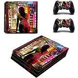 YWZQ Etiqueta engomada de la decoración del diseño de la Mujer Sexy para la Consola PS4 Pro + 2 Controlador Pegatina de la Piel para Playstation 4 Pro Accesorios de Juego,2332