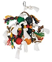Living World Large Wood, Rope & Leather Tamborine with Wood Balls by Living World