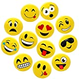 12' Emoji Party Pack Inflatable Beach Balls - Beach Pool Party Toys (12 Pack)