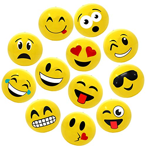 Emoji Party Pack Inflatable Beach Balls