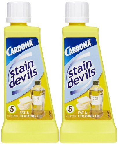Carbona Stain Devils #5 Fat amp Cooking Oil  17 oz  2 pk