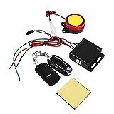 Sistema di Allarme per Moto, Antifurto per Motocicli Sistema di Allarme Antifurto per Telecomando Sensore di Shock 12 V con 2 Telecomandi
