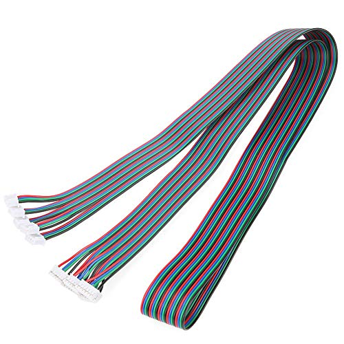 4-wire Nema17 Stepper Motor Cable 1 Meter Long with JST HX2.54mm 4Pin to 6Pin White Terminal for 3D printer, Arduino, Ramps (5 pack)