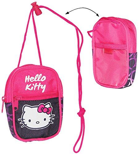 alles-meine.de GmbH Handytasche / Geldbörse / Brustbeutel -  Hello Kitty / Katze  - Geldbeutel - Portemonnaie für Kinder - Geld Handy Geldtasche / Kätzchen - Mädchen