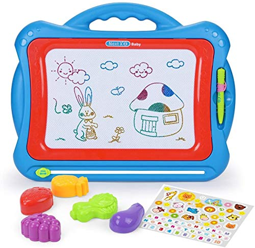 NextX Magnetic Drawing Board, Educational Writing and Learning Doodle Pad Creative Toy for Toddlers Boys Girls Age of 3, 4, 5, 6 Year Old,Toddler Large Erase Sketch Board