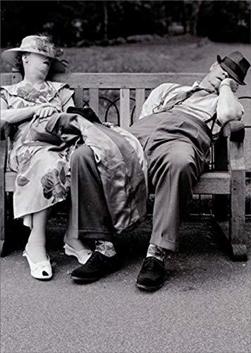 Avanti Party Pooper Couple On Bench Funny/Humorous Birthday Card