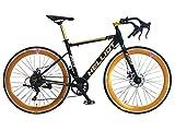 Helliot Bikes Goa 7.0 Negra Bicicleta de Carretera, Adultos Unisex, Mediano