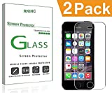 RKINC Screen Protector for Apple iPhone 5 5S 5G SE, Tempered Glass Screen Protector[0.3mm, 2.5D][Bubble-Free][9H Hardness][Easy Installation][HD Clear] forApple iPhone 5 5S 5G SE(2 Pack)