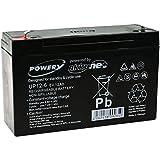 Powery Bateria de Gel para Moto Infantil Buggy para niños 6V 12Ah (Reemplaza también 10Ah)