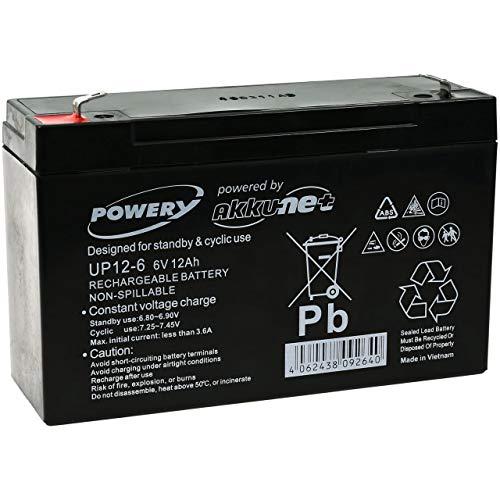 Powery Bateria de GEL para Vehículos para niños Coche Infantil Quad 6V...