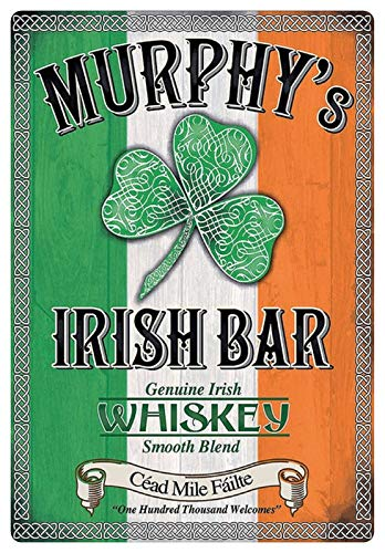 Metalen bord 20x30cm Murphy 4800s Irish Bar Ierse Whiskey Ierland bord Tin Sign