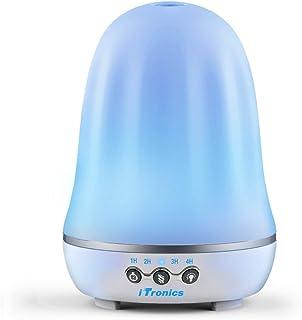 iTronics IT01 Essential Oil Diffuser 120ml Aroma Essential Oil Cool Mist Humidifier with Waterless Auto Shut-off Adjustabl...