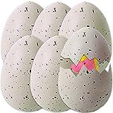 TE-Trend Juego de 6 huevos de unicornio, agua, dinosaurio, huevo, unicornio, huevo, unicornio, huevos de unicornio, huevos multicolor