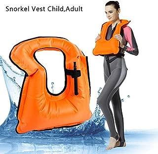 180° Extra Safe Snorkel Vest - Snorkel Jacket - Snorkeling Diving Vest - Inflatable - Free-Diving Dive Safety Water Safety