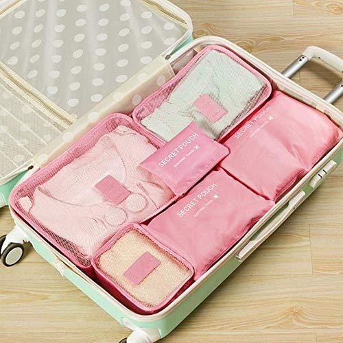 Verpakking Cube Travel Bag Mannen en Vrouwen Bagage reistassen kleding sorteren Organiseer Bag, Pink aijia