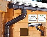 Dachrinnen/Regenrinnen Set | Satteldach (2 Dachseiten) | Kastenrinnen | Kastendachrinnen | BG70 | in braun! (Komplettes Set bis 3.50 m)