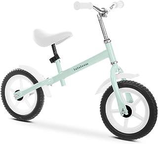Lalaloom MINT BIKE - Bicicleta sin pedales aluminio verde andador bebe correpasillos niños 2 años para equilibrio manillar y sillín regulables con ruedas de goma EVA