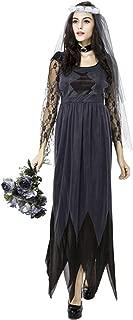Women Halloween Corpse Bride Lace Dress Costume