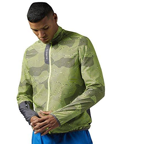 Reebok Jacke Running Essentials Woven Jacket, Giacca Uomo, Grigio-Grigio Cenere, XL