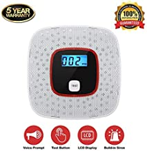 Carbon Monoxide Alarm Detector,with Digital LCD Display and Voice Warning - Battery powered