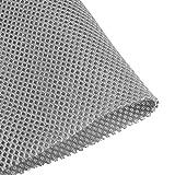 uxcell スピーカー布 グリル布 メッシュ布 清潔簡単 防塵保護カバー ステレオボックス ファブリック製 防水オーディオ布 ダークグレー 50cmx160cm